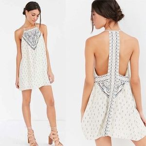 Urban Outfitters Ecote Gigi Mix Print T-Back Frock